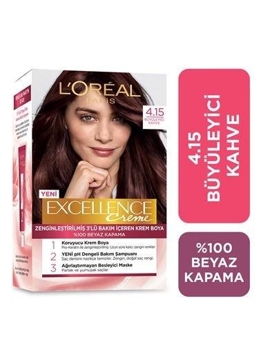 L'Oréal Paris Loreal Excellence Creme Saç Boyası 4.15 Büyüleyici Kahve Renkli